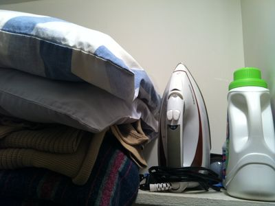 Plenty of linens, detergent for in-house laundry, iron and ironing board.