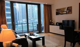 Dubai Marina & Al Sufouh apartment photo - Living room