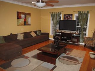 Conyers house photo - Family Room with Fireplace and 50inch Plasma TV. Dvd player and cable TV