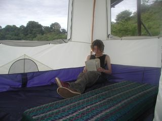 Dominical house photo - Son enjoying his own space in the tent.
