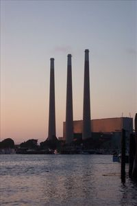 Morro Bay Power Plant Smoke Stacks