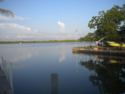 Cape Coral cottage rental - Standing on the dock of the bay in front of the Matlacha Cottage.
