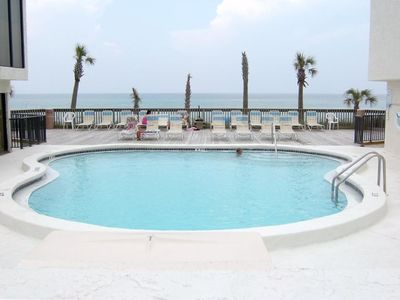 Care for a dip in our beach front pool?