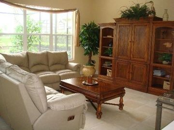 Lely villa rental - Living room with 7 seat reclining couch