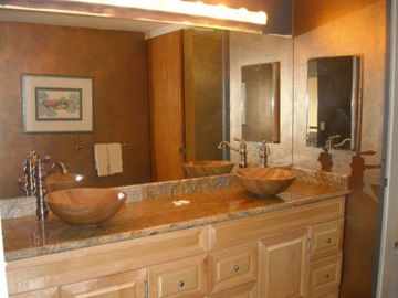 Newly updated upstairs bathroom-beautiful granite and new fixtures.