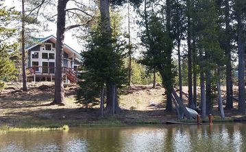 Soda Springs house rental - 'Forest Lakefront' from the lake.