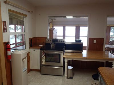Big Arm cabin rental - other side of kitchen