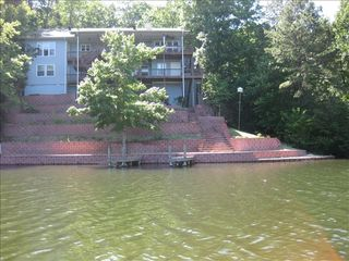 Hot Springs Village house photo - Private dock, fishing and swimming area at the lake house