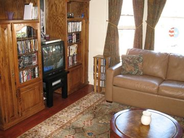 More of the livingroom in Bottom unit with the DVD libary.