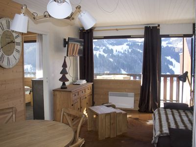 Bel appt *** 2 rooms, bright, skis, garage, wi-fi, linens provided