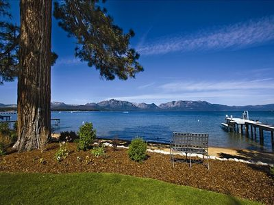 LAKE TAHOE LAKEFRONT HISTORIC ESTATE - 'TWIN PINES' - View of the Pier and Lake