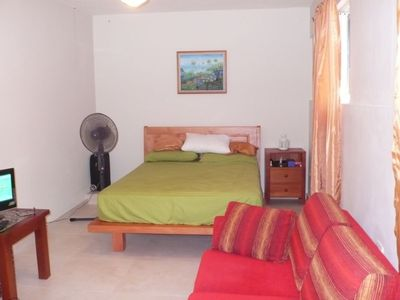 Puerto Plata studio rental - view from the entrance of the studio