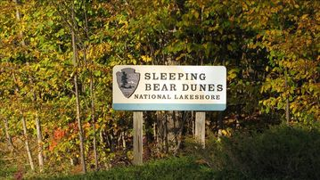 Home is adjacent to the Sleeping Bear Dunes-voted the most beautiful place in US