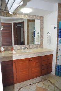 Second bathroom/sink/vanity with shower