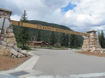 The condo is located steps away from the slopes at Durango Mountain Resort