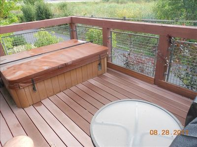 Hot Tub on porch w/BBQ overlooking Swaner Wetlands Preserve