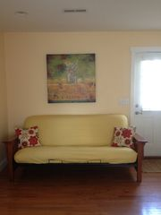 Folly Beach studio photo - Full size futon with extra thick mattress