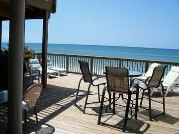 Crystal Beach townhome rental - Large deck: relax, sun, read or sip a cool drink