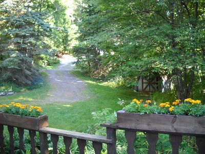 Chalet grounds offer beauty and solitude - secluded, yet accessible year round.