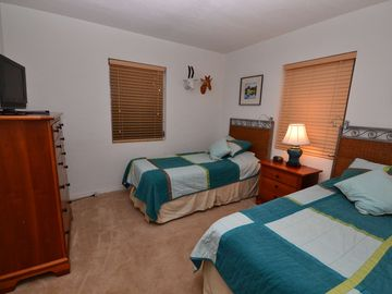 Guest bedroom with twin beds