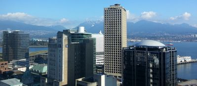 Welcome to Vancouver.  This is your gorgeous view in the apartment.