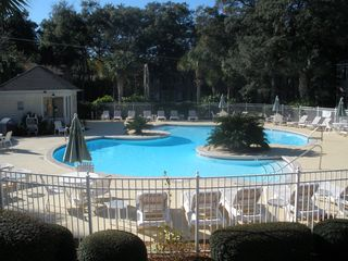 St. Simons Island condo photo - Heated pool where you can swim almost year round! 75 yards from the Condo.