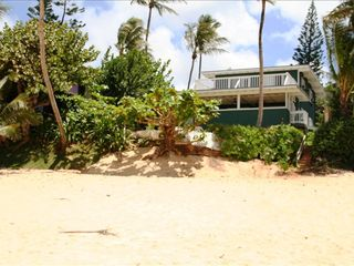 Haleiwa house photo - Beachfront home with miles of sandy beaches to walk