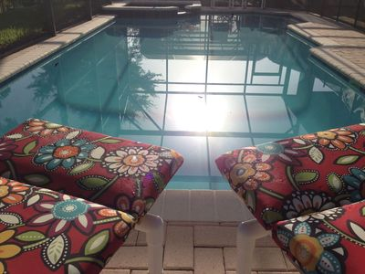 Relax by the pool and soak in the sun!
