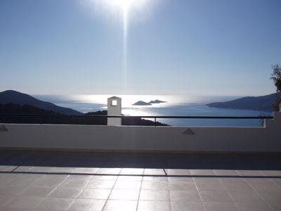 Kalkan villa rental - The view from Dreams top terrace - breathtaking!