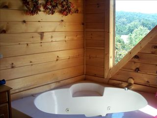 Gatlinburg cabin photo - Jacuzzi in each bedroom with view.