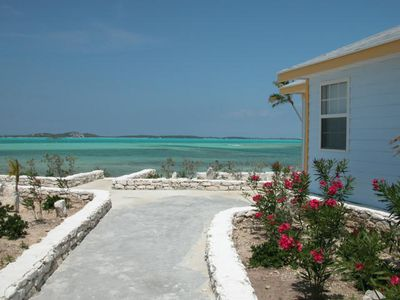 Great Exuma villa rental - Path from pool to beach
