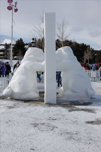 winter snow sculptor