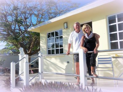 Corozal cottage rental - From Seattle, Shirley & Wendell making the most of sunny 2013 Corozal..