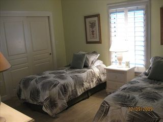 "Orange Beach condo photo - Third Bedroom with Two Single Beds, a Computer Desk & 32"" Flat Screen with DVD!"