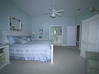 Master Bedroom One /King Size Bed, Private Bath,whirlpool tub,TV/DVD,balcony
