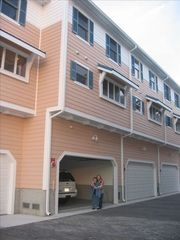 Vacation Homes in Ocean City townhome photo - Back with Garage Entry