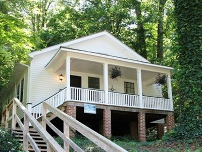 Flat Rock house rental - Historic bungalow with Lake Summit just across the lane to the boathouse.
