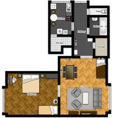 Innere Stadt apartment photo - Floorplan