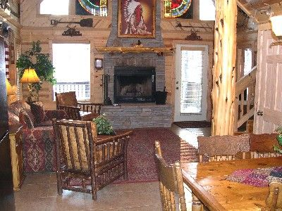 Relax and Enjoy the Two Story Stone Fireplace