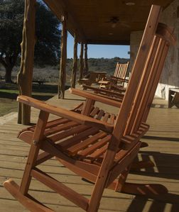 Amish Rocking Chairs Await you.