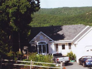 Bar Harbor house photo - Beautiful front yard Acadia National Park in the back ground
