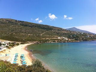 Andros villa photo - Nearby beach (less than 5 minute drive from the house)