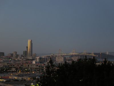 View of Bay Bridge at Dusk