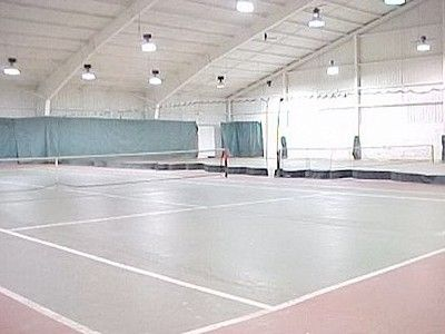 Tannersville townhome rental - Tennis Court and pool facility walking distance from unit