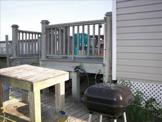 Kure Beach house photo - Outside Shower, Grill and Fish Cleaning Table