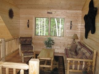 Munising cottage photo - Loft sitting area is very comfy w/flat screen tv + 2 Large Bean Bag Chairs!