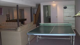 West Dover chalet photo - Unit 5 - Downstairs Recreation Room with Ping Pong, Pool Table, etc.
