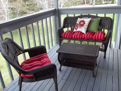 2nd Floor Balcony - right side seating area - Summer