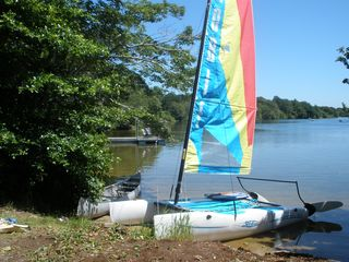 Dennis Village house photo - Sail in Hobie Wave Catamaran or go kayaking or canoeing from beach on property.