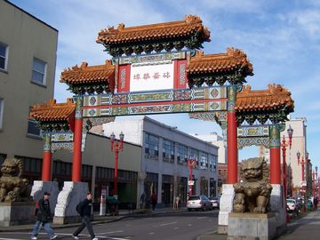 The magnificent entry gate to Portland's Chinatown and Pearl District!